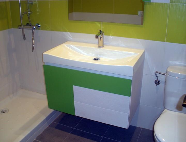 Reforma baño verde