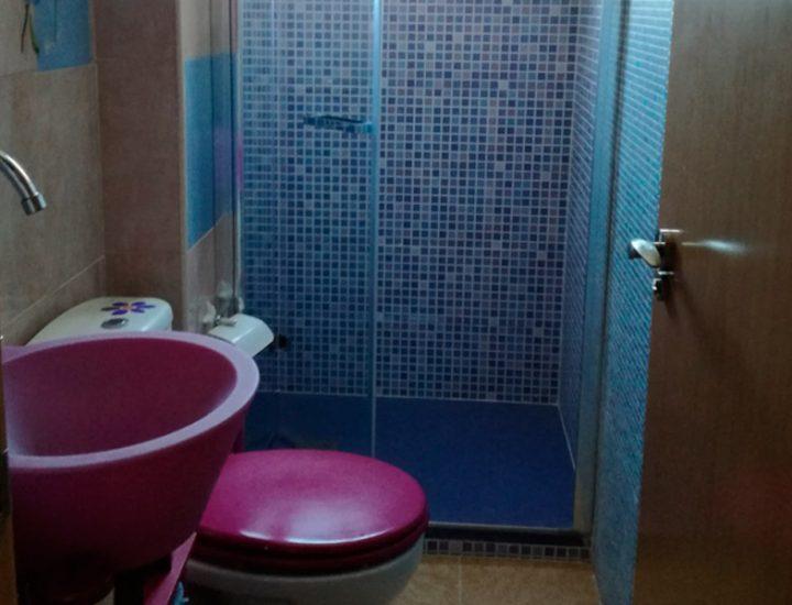 Reforma baño lila